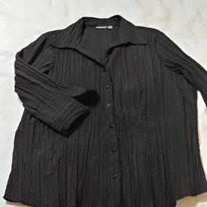 Flared 3/4 sleeve button down 2X